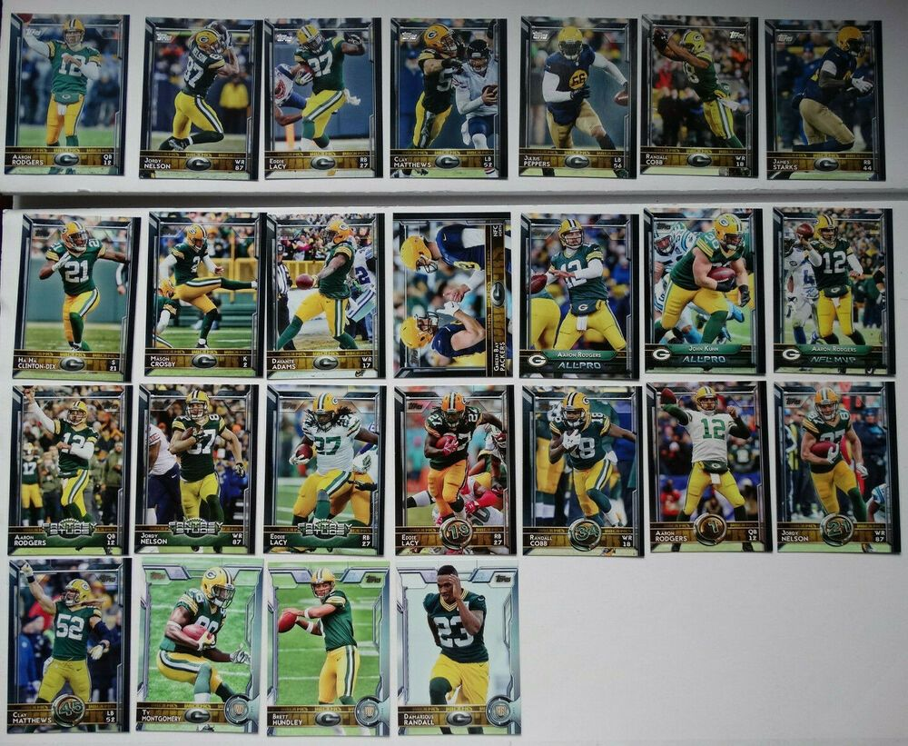 2015 Topps Green Bay Packers Team Set of 25 Football Cards