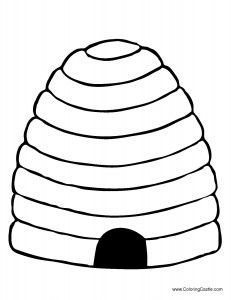 Bee Hive 1 Quiltables Bee Bee Coloring Pages Bee Activities