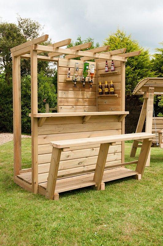 Enjoy A Weekend With Friends In Your Personal Garden Bar Yonohomedesign Com In 2020 Outdoor Tiki Bar Garden Bar Shed Backyard Bar