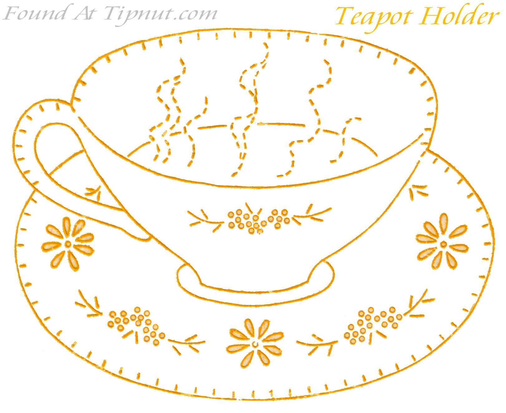 Teacup | PERGAMANO THE/CAFE Patrons | Pinterest | Bordado, Apliques ...