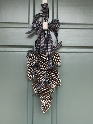 Photo of Simply LKJ: pine cone door hanger ~ winter door decor