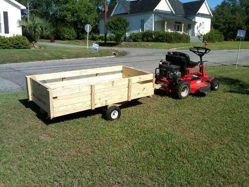 Lawnmower Utility Trailer Utility Trailer Trailer Diy Lawn Trailer