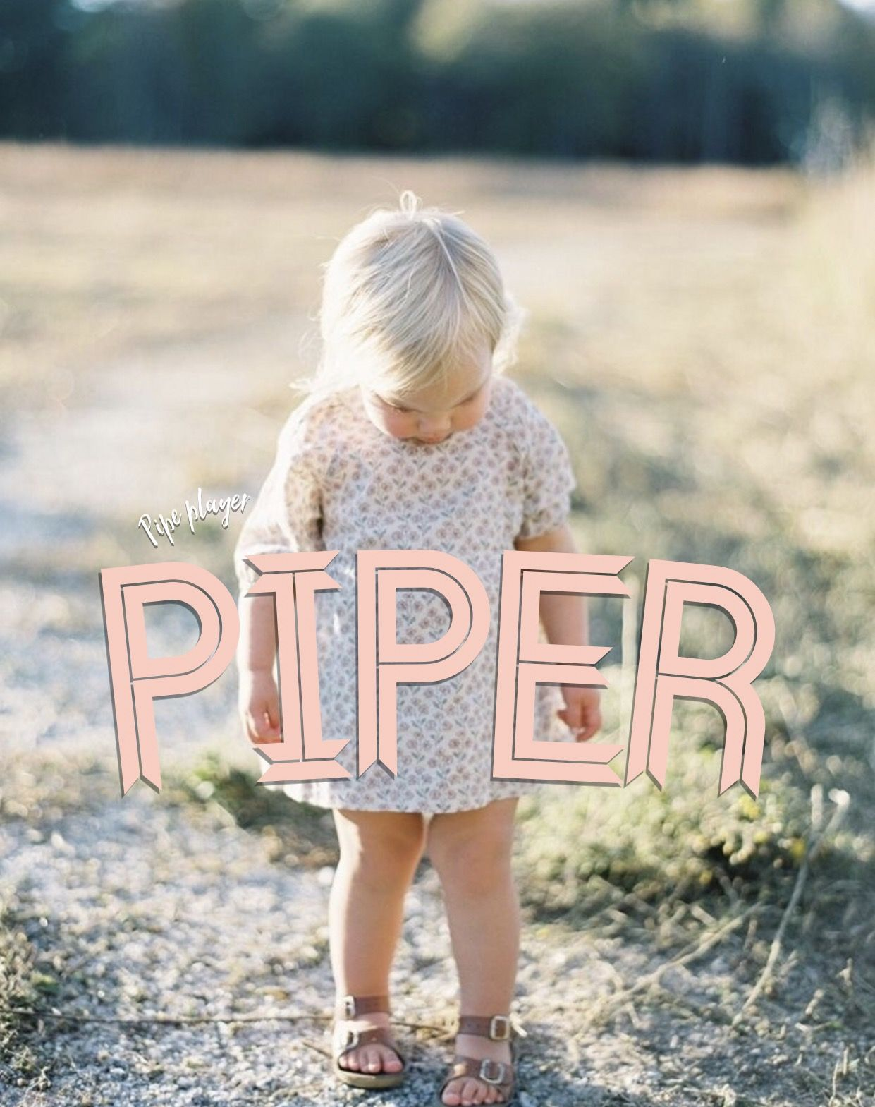 Piper, meaning: pipe player, English names, names, P baby
