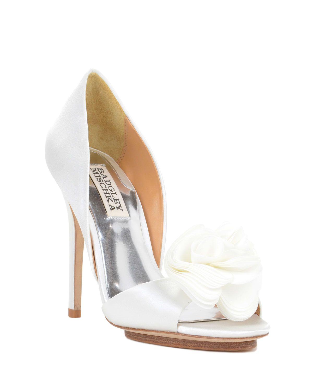 Womens Shoes Badgley Mischka Blossom Ivory Satin