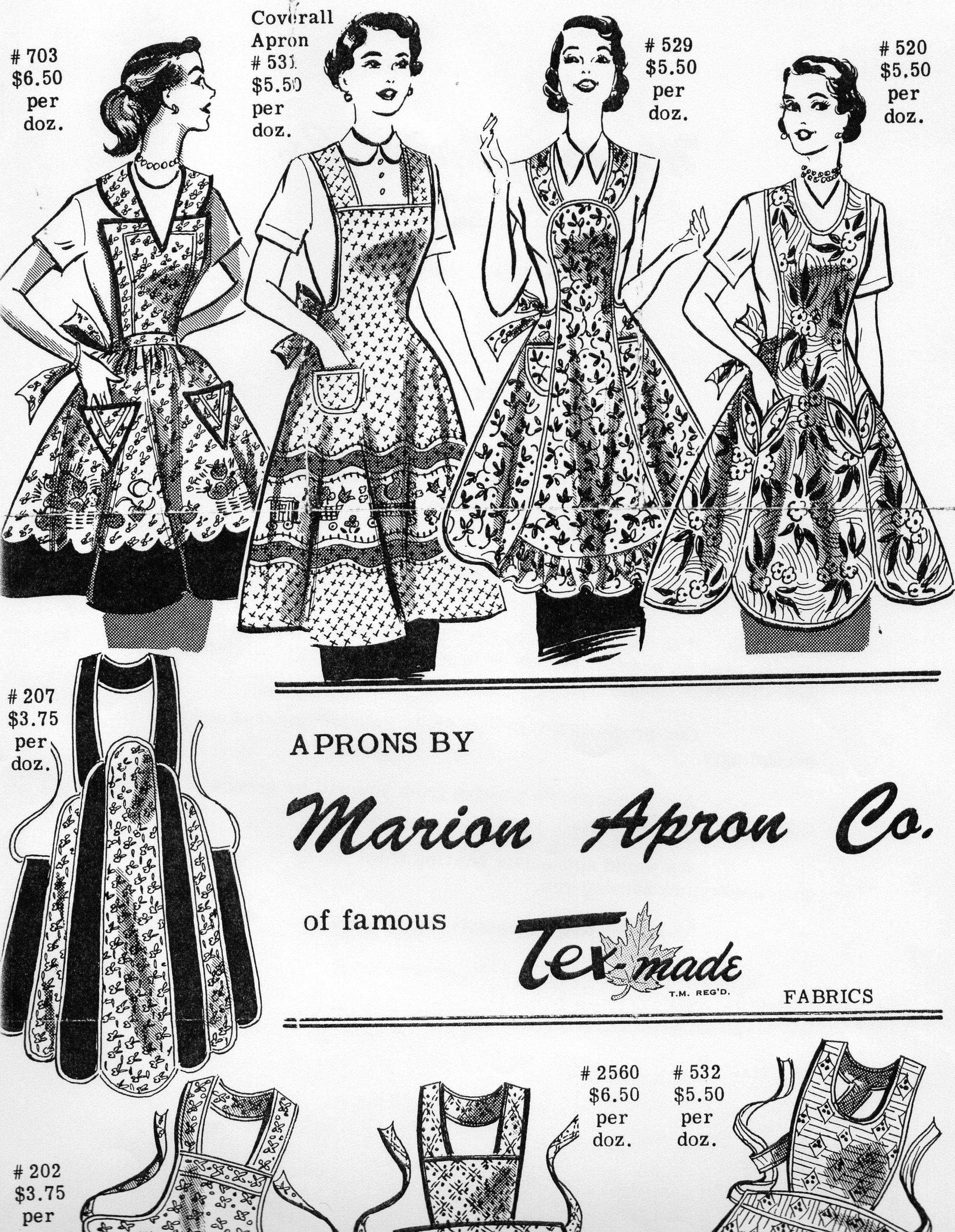 White apron canada - Apron Factory Montreal Quebec Canada 1940 S 1950 S