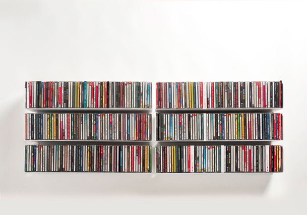 idée rangement cd et dvd mural | maison | pinterest | peintures ... - Meuble Cd Design