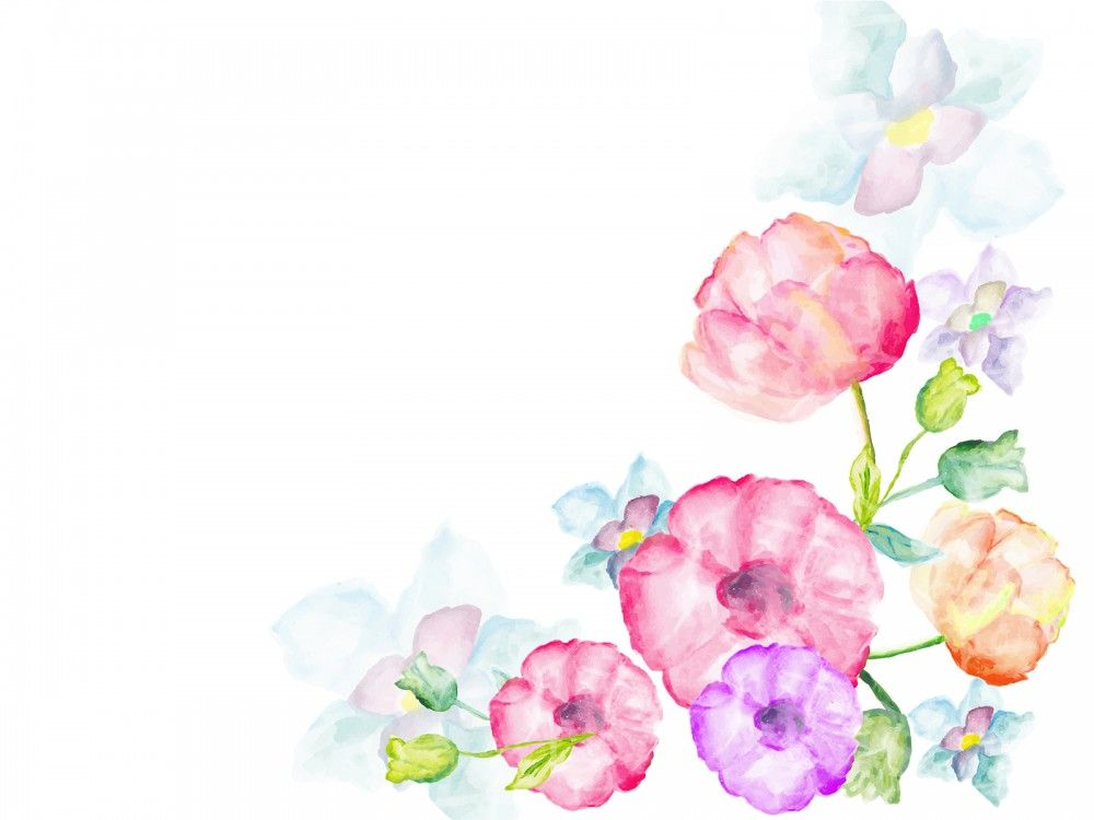 Pin By Amanda Fuller On Art Watercolor Flower Background