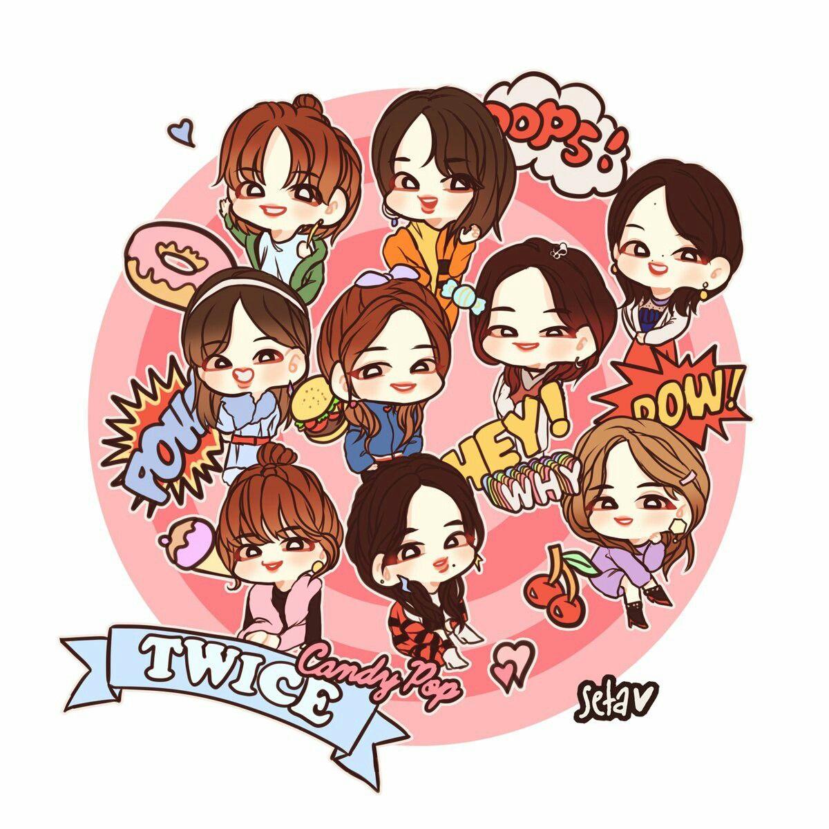 TWICE Candy Pop Release 2018.02.07 ♡ Twice fanart, Fan