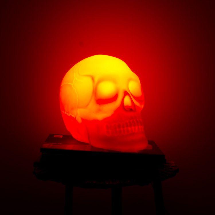 Designn Maniaa >> Luminária Caveira Vermelha >> luminária caveira; luminária crânio; caveira; skull