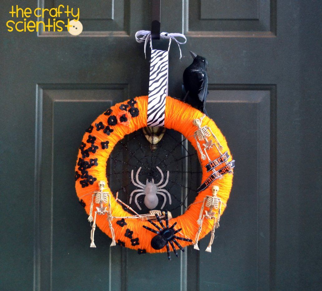 Cool Halloween Wreath! Use Dollar Store Decorations- Cheap
