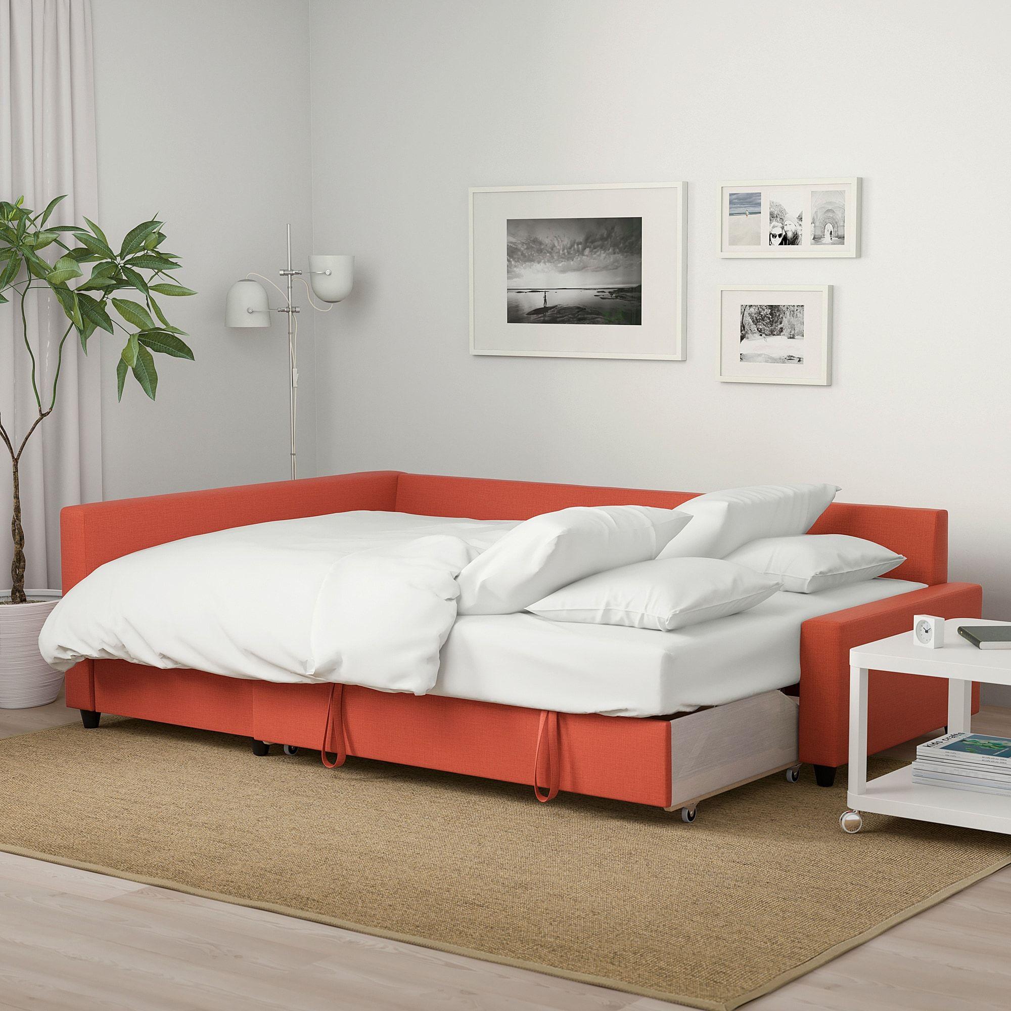 ikea friheten corner sofa bed with storage skiftebo dark orange in rh pinterest com