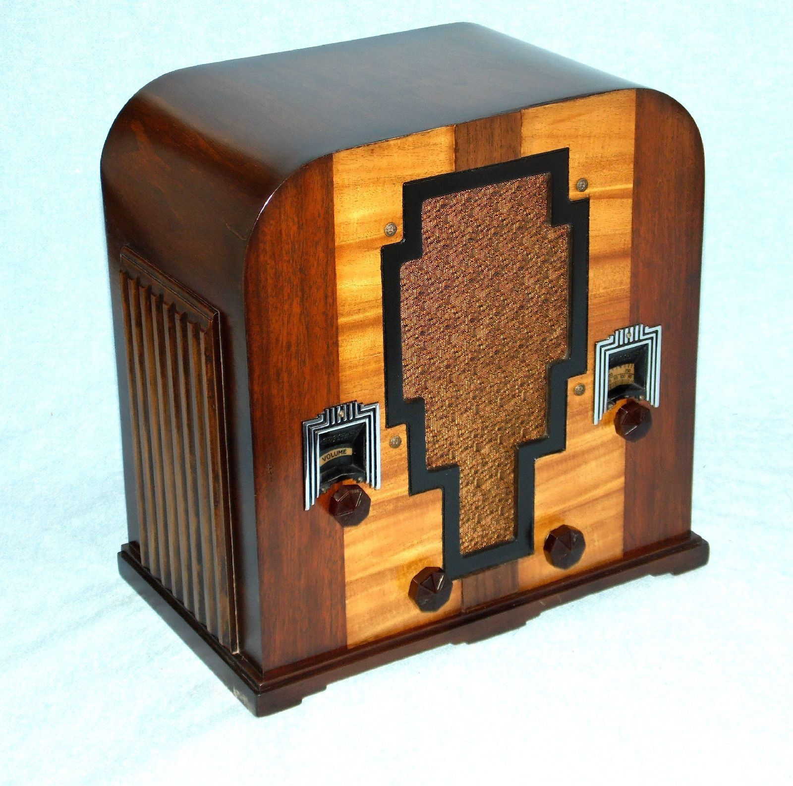 radio personality resume%0A Antique Deco Crosley Wood Tombstone Tube Radio Completely Restored Warranty    eBay