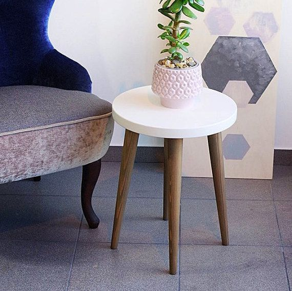 Stool Small coffee table Side table Rround table Wood stool ...