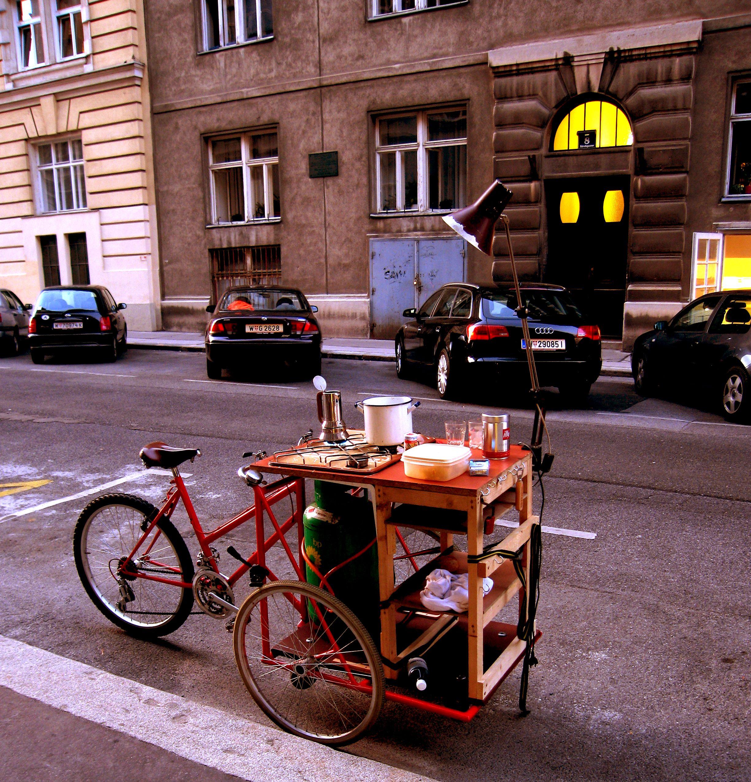 Bike Kitchen Vienna Carritos De Cafe Carritos De Comida Camion