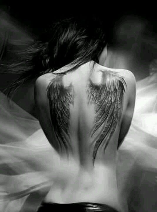 f3e038d5a7da7 Angel wings tattoo-I want this to cover up the shit on my blades ...
