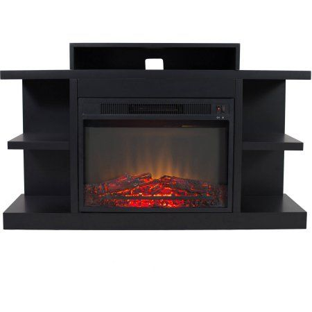 electric fireplace with 46 inch mantle black products pinterest rh pinterest com