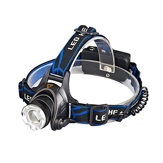 Led Headlamp With Zoomable 3 Modes 1800 Lumens Light