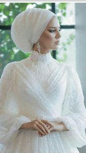 Tesettur Elbise Modelleri 2020 Muslimah Wedding Dress Different Wedding Dresses Muslim Wedding Dresses