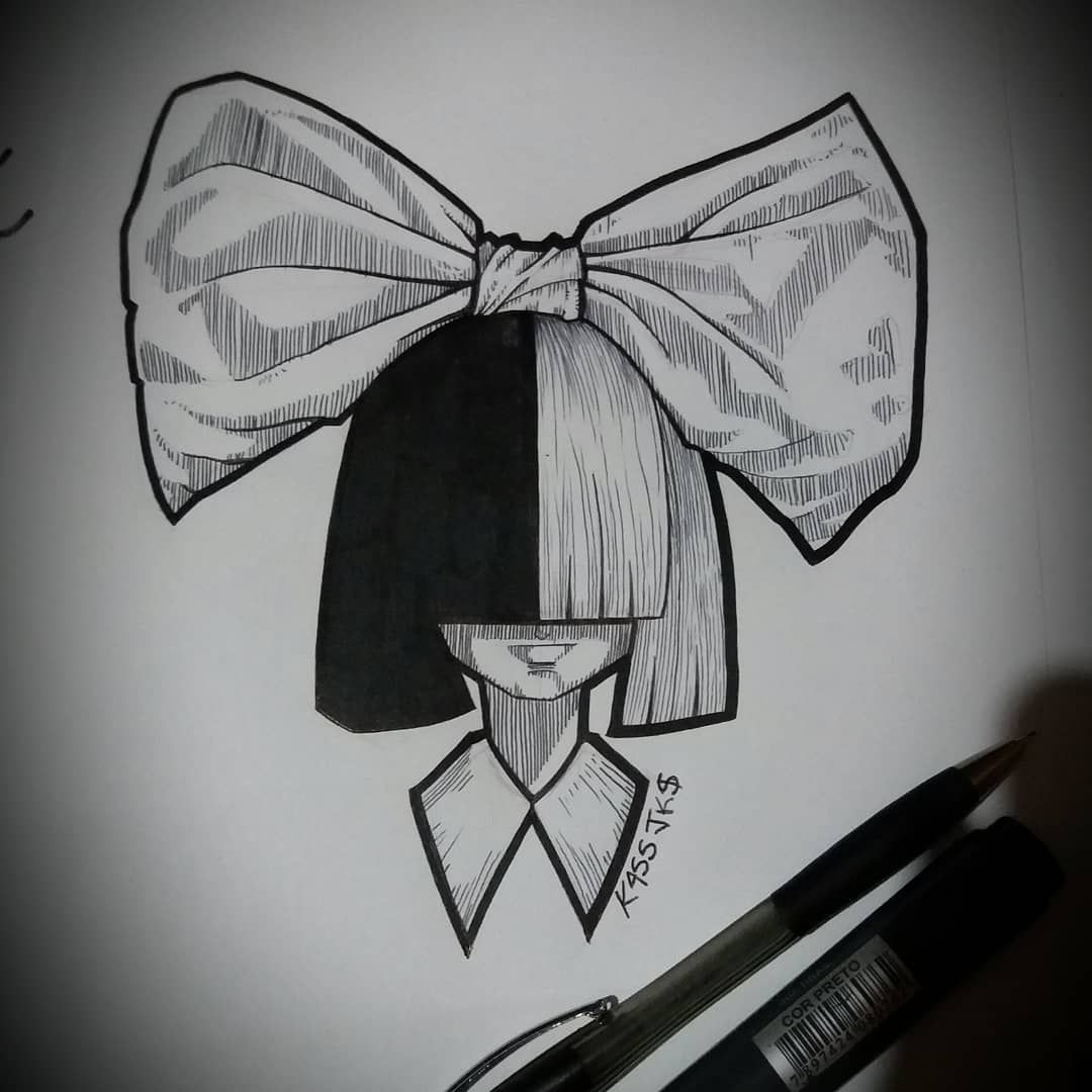 "Kass Jks στο Instagram: ""#sia #music #pop #drawing #draw #desenh4ndo #desenho #drawing2me #artist #arte #art #cartoon #hair #hairstyle #caricature #caricatura…"""