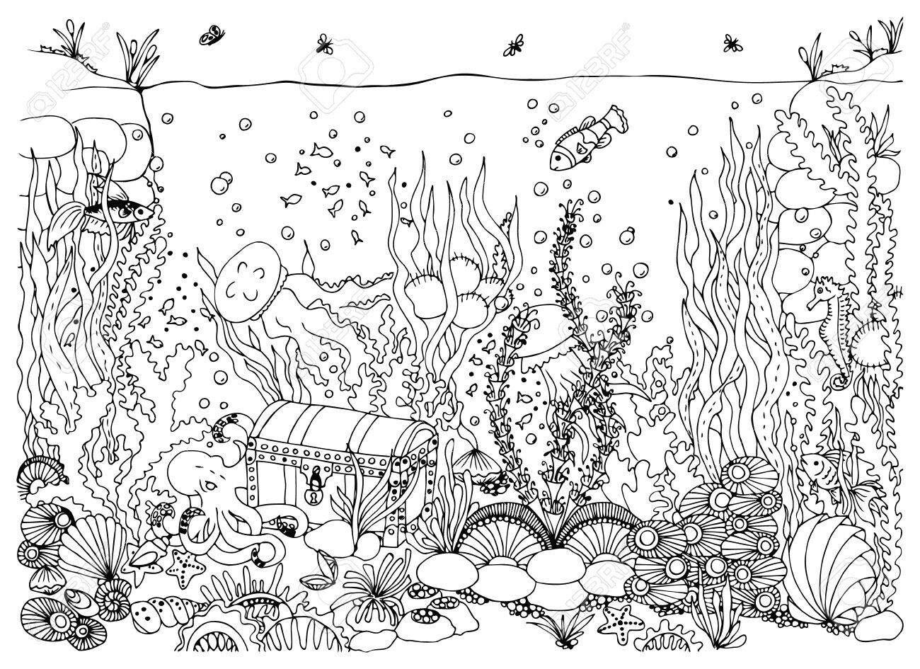 art imageknit 'n kaboodle   underwater drawing, water