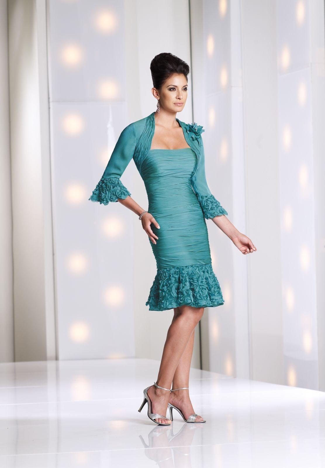 chiffon-strapless-sheath-modern-knee-length-mother-of-the-bride ...