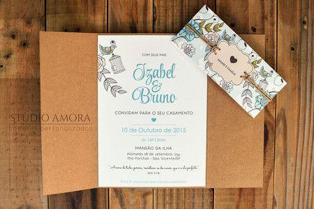 Convite Amanda e Fabio
