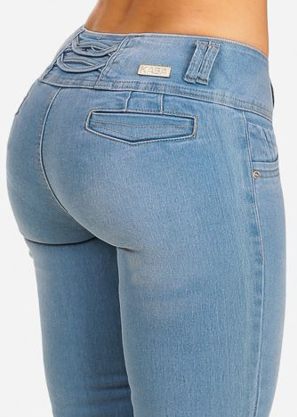 95ff1c643d14 Light Blue Butt Lift Low Rise Skinny Jeans