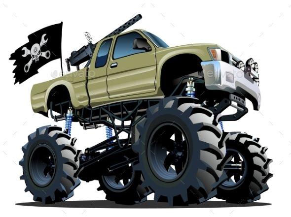 Cartoon Monster Truck Monster Trucks Car Cartoon Cartoon Monsters