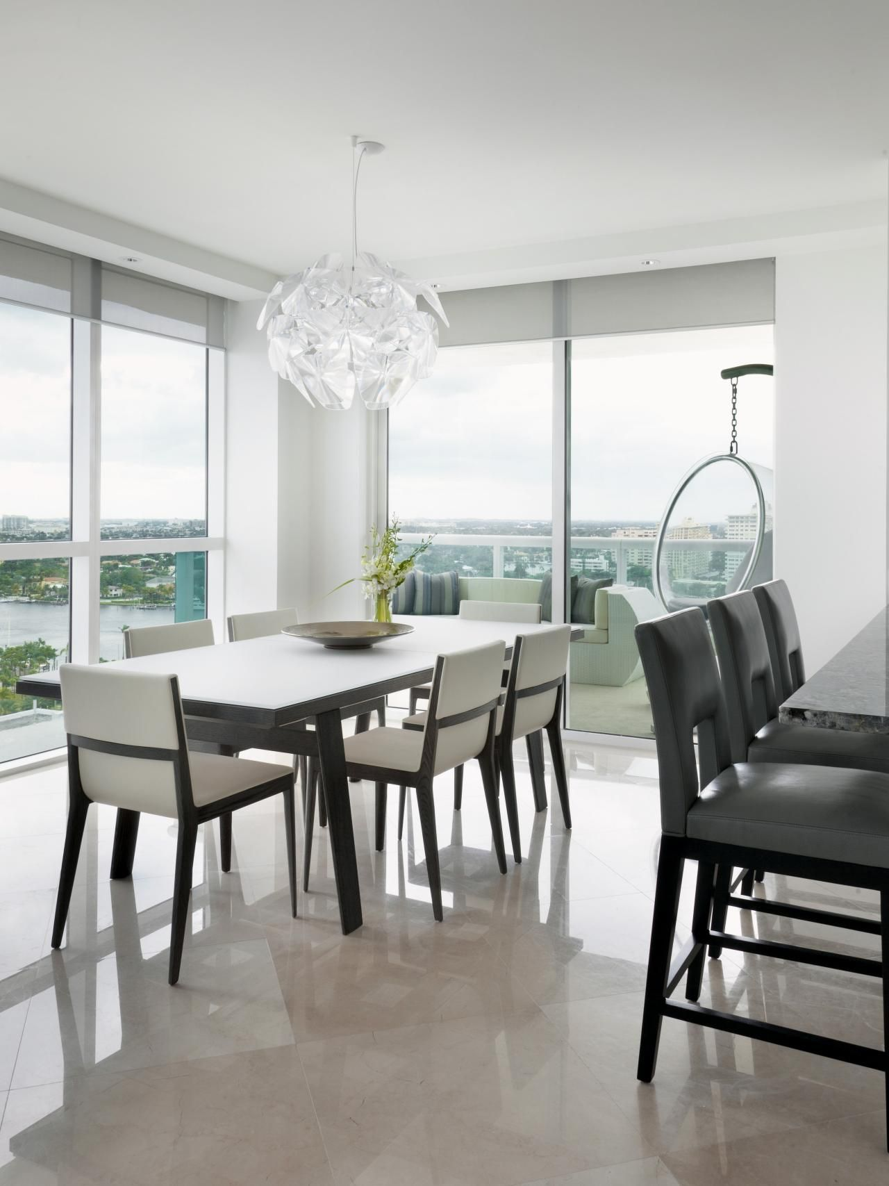 Contemporary dining table High Rise Living and Dining