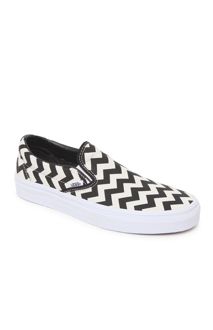 Vans Chevron Slip-On Shoes - Womens Shoes - Black from PacSun  pacsun ff93530697cf
