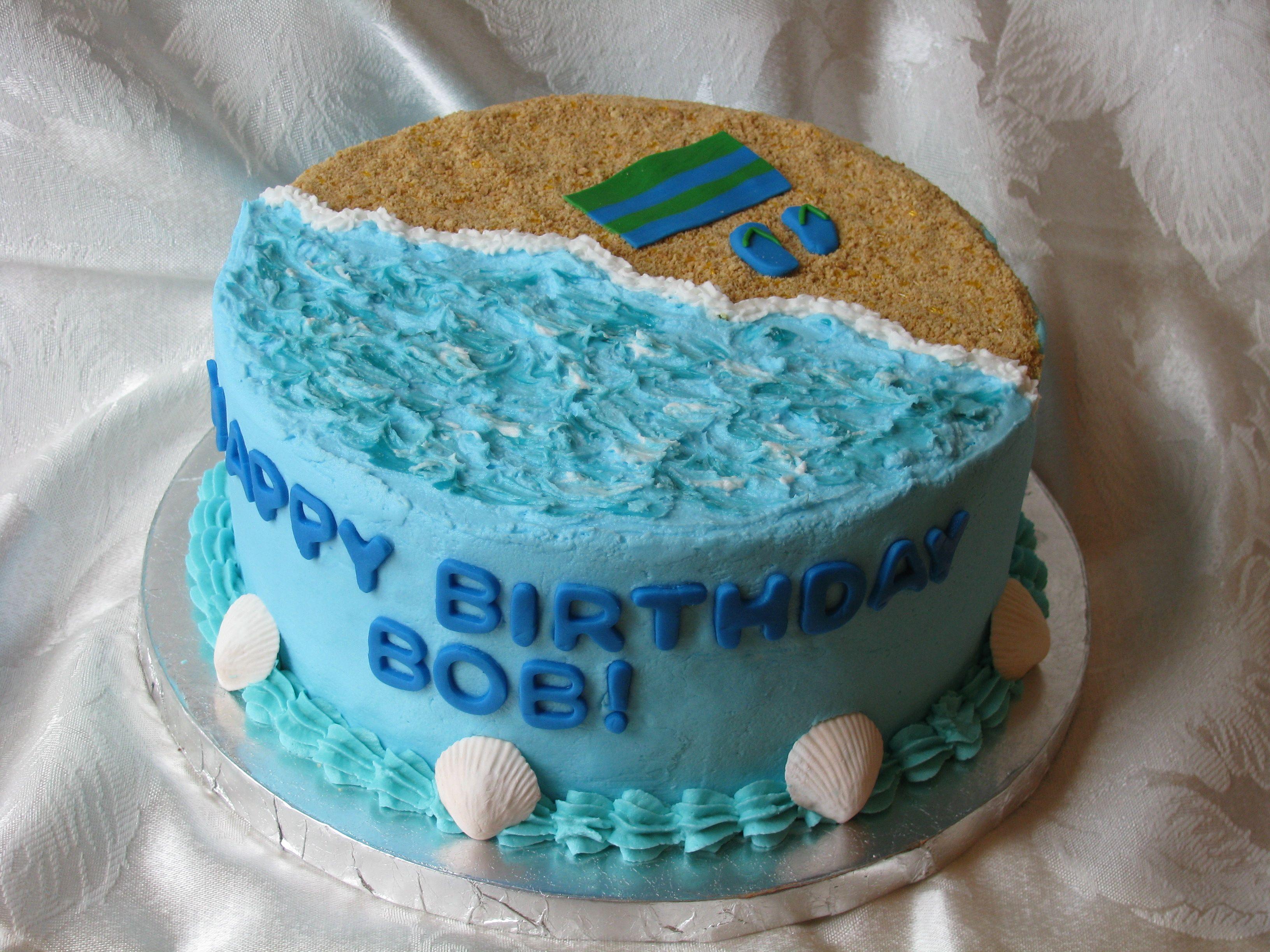 Beach Themed Birthday Cake Beach Birthday Cake Beach Theme