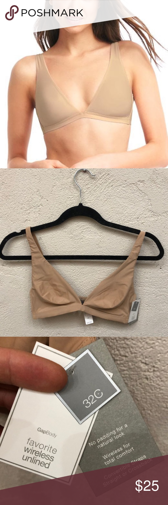 896baad19e Gap body wireless unlined nude bra 32C new Brand new with tags attached.  Unlined Nude bra. GAP Intimates   Sleepwear Bras