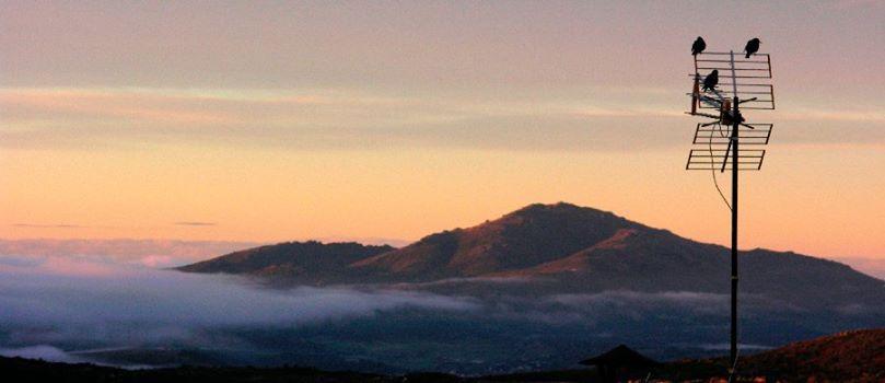 panorámica al amanecer