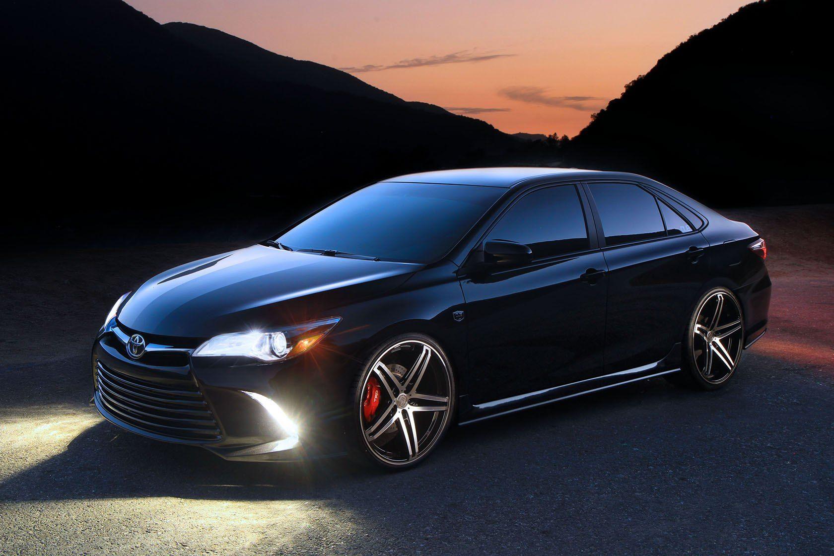 Stylish Black Toyota Camry Sporting TIS Wheels —