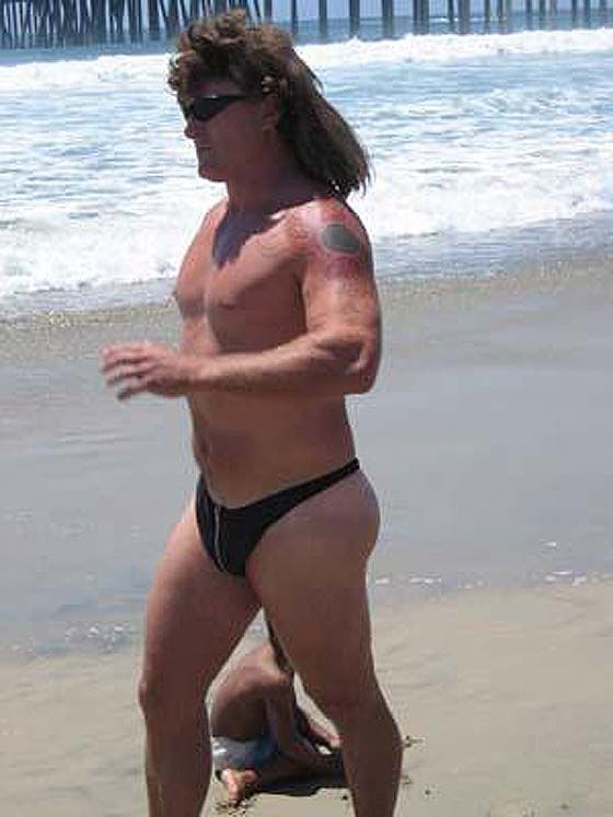 43393ed4430ba1 A mullet and a man thong ! ! This guy is definitely NOT  Brandy Clift   Kayla Fyles