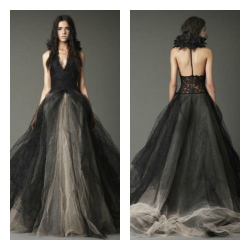Vera wang black wedding dresses shenae grimes dramatic vera wang black wedding dresses shenae grimes dramatic black wedding gown bettyconfidential junglespirit Image collections