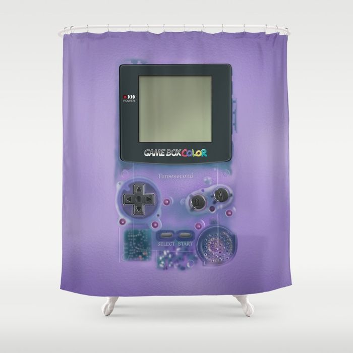 Classic Retro Transparent Purple Game Watch Shower Curtain @pointsalestore  #society6 #showercurtain #Photography