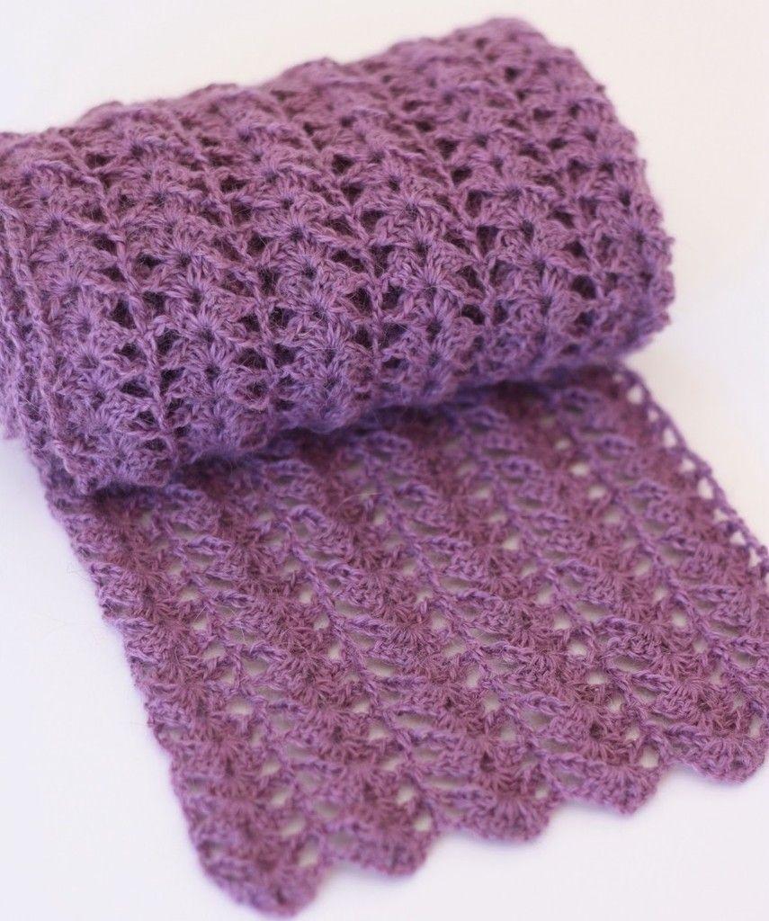 Gratis Haakpatroon Sjaal Crochet Pinterest Crochet Crochet