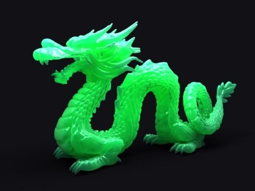 Jade Dragon Green Fantasy Jewelry Asian Art