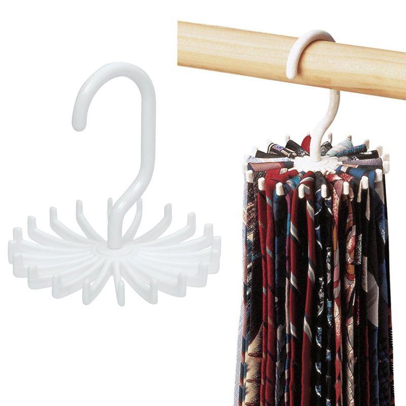 db90bde91969 New Rotating Tie Rack Adjustable Tie Shelf Belts Scarves Hanger Wall Key  Holder 20 Neck Ties Clothes Organizer For Bathroom Z1