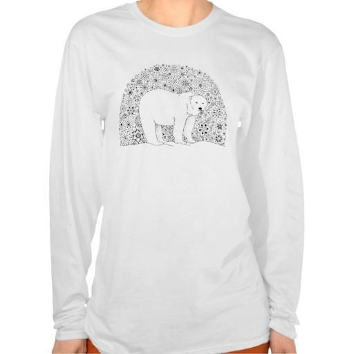 Illustrated Zentangle Art Polar Bear Shirt