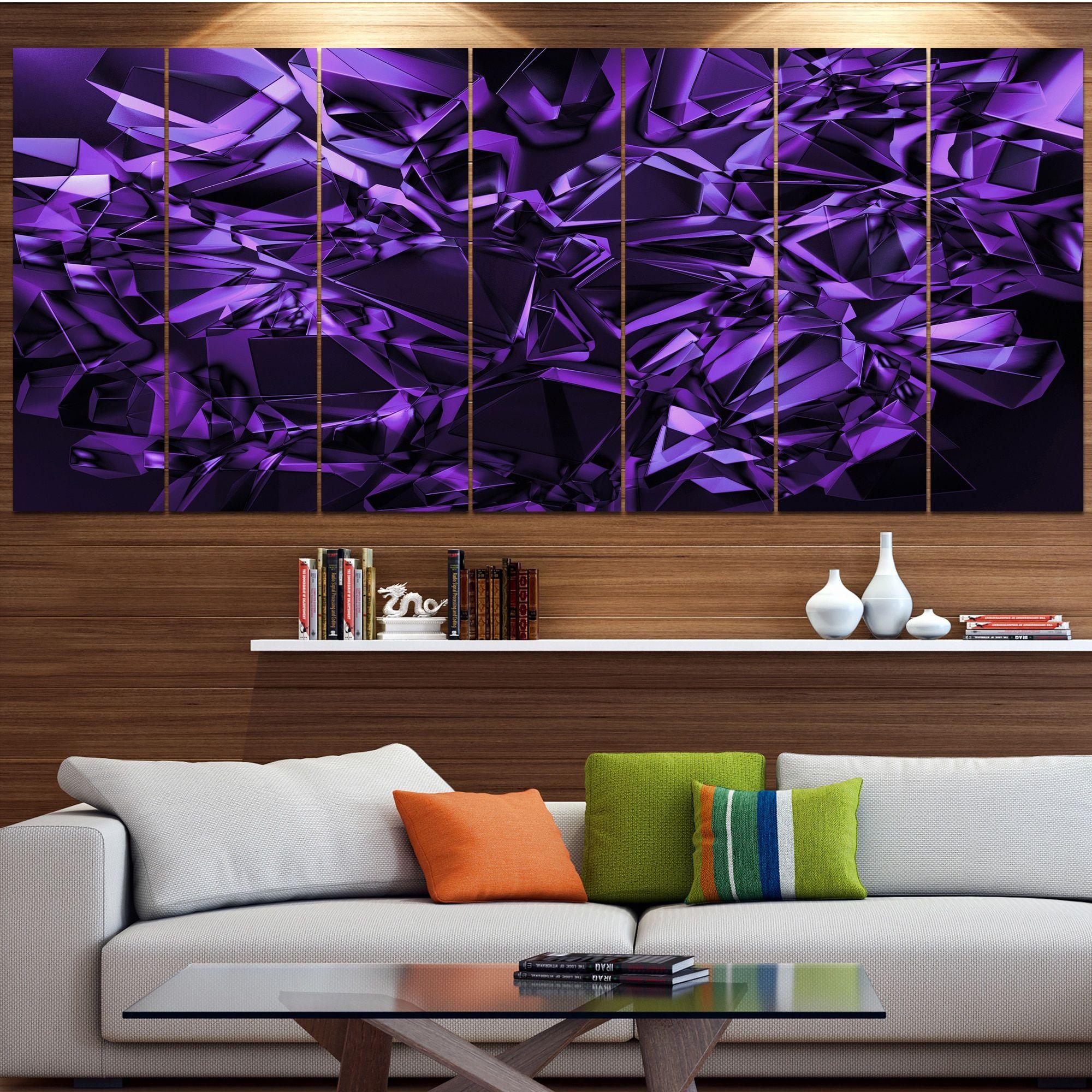living room art prints%0A Designart  u    Purple Crystal Texture Design u     Abstract Artwork on Canvas