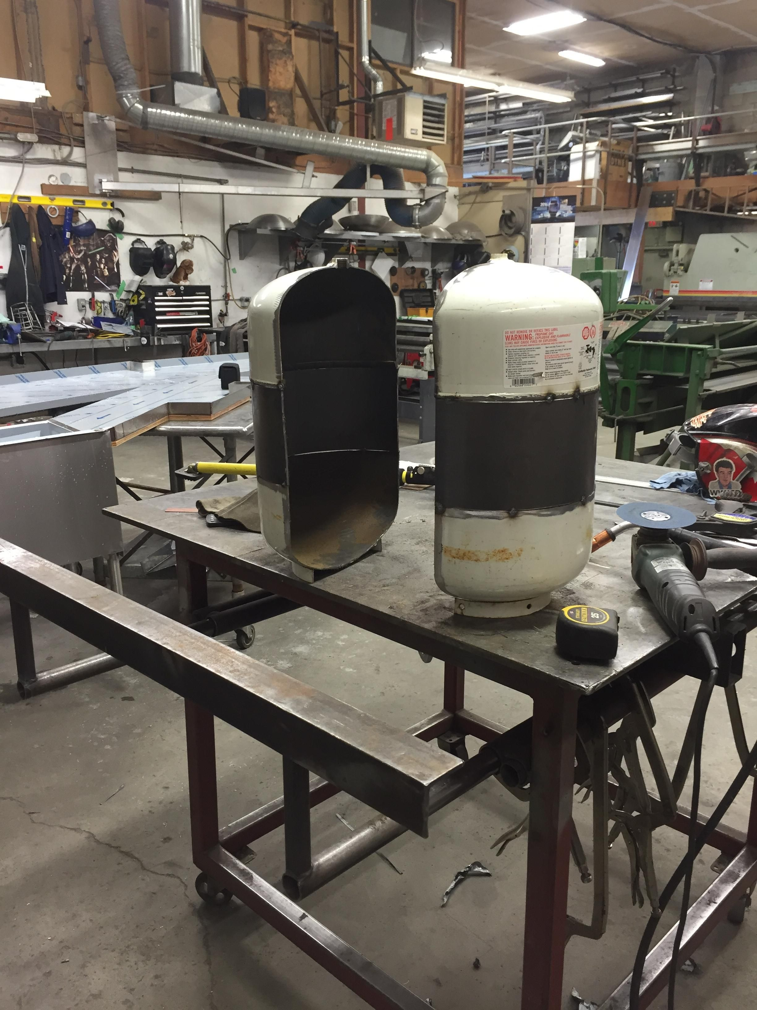 Transforming A Propane Tank Into A Vw Bus Inspired Fire Pit Welding Projects Propane Tank Metal Welding