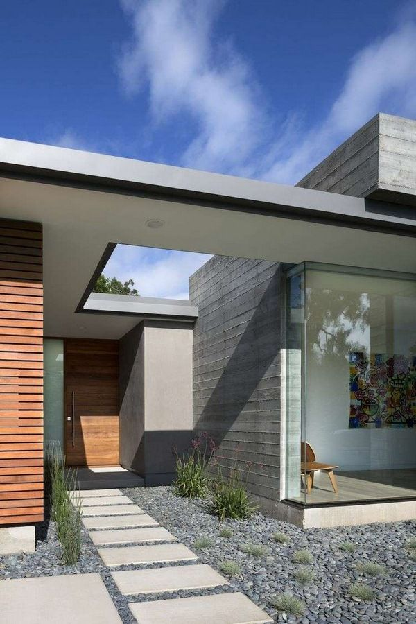 patio slabs concrete minimalist gray pebbles away