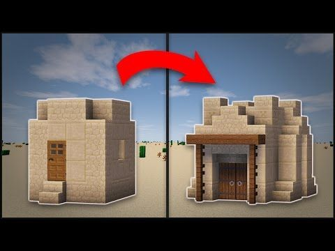 Minecraft how to remodel a desert village small house youtube craft malvernweather Image collections