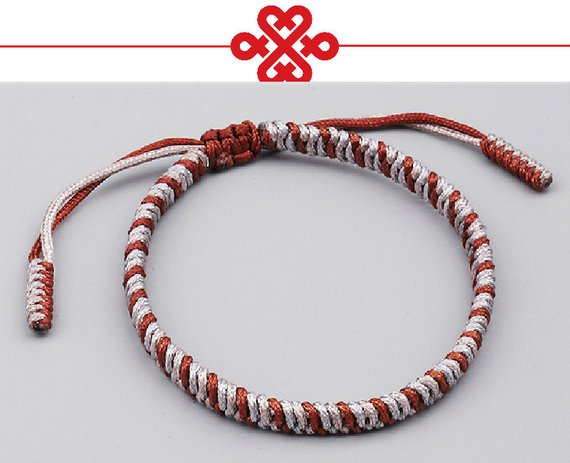 b317b216dc045 Original HANDMADE KNOTS LUCKY Rope Bracelet ( Colors Holy Light of Buddha)  Brown Mix