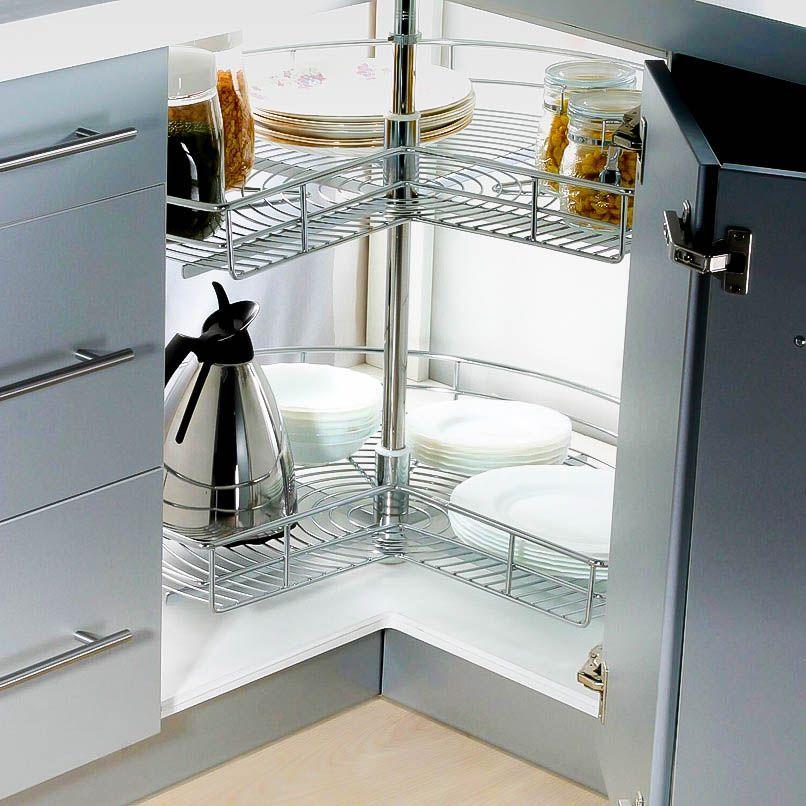 stainless steel lazy susan for corner cabinet storage kitchen rh pinterest com