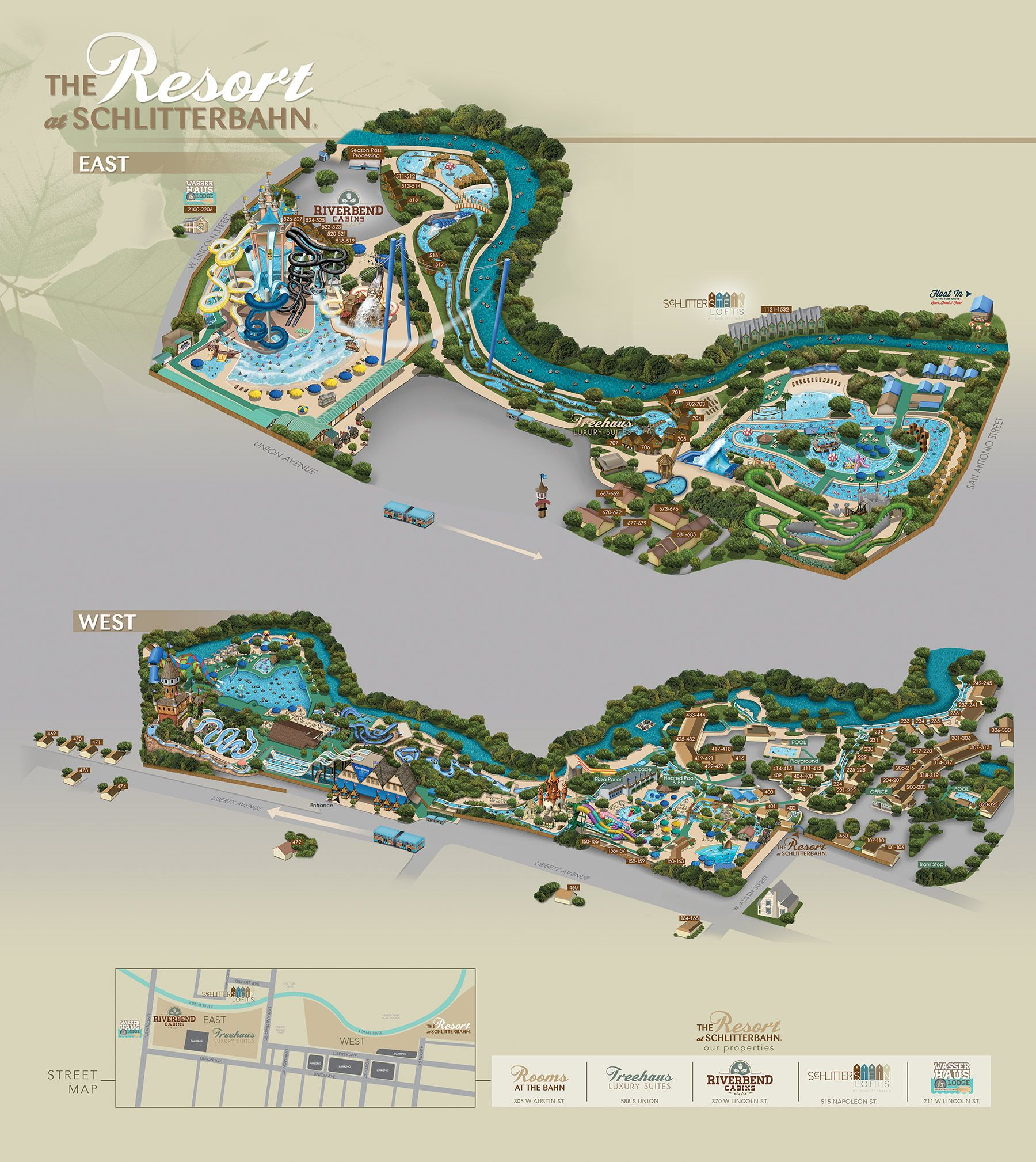 New Braunfels Schlitterbahn Resort Map We stayed