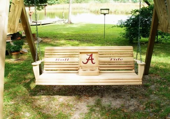 alabama roll tide porch swing sale price 350 00 sweet home rh pinterest com