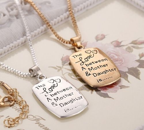 THE LOVE BETWEEN A MOTHER AND DAUGHTER IS Forever Mom Necklace Gold Silver Tone #Unbranded #Pendant